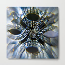 Silver Bracelet Prisms Metal Print