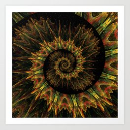 Spiral Organic Orange Art Print