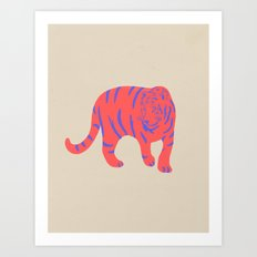 Uzual Tiger, Tiger print, animal print, nursery art Art Print
