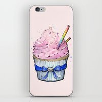 cupcake iPhone & iPod Skins featuring Cupcake by Olechka