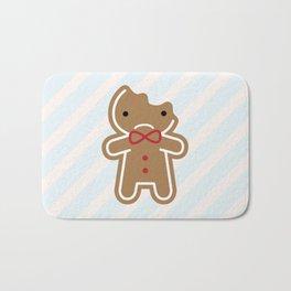 Sad Bitten Cookie Cute Gingerbread Man Bath Mat