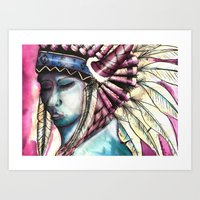 native Art Prints featuring Native by Siriusreno