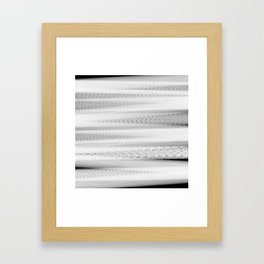 Black and White Stripes Abstract Framed Art Print