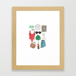 Beach Essentials Framed Art Print