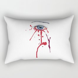 Blue eye with red paint Rectangular Pillow