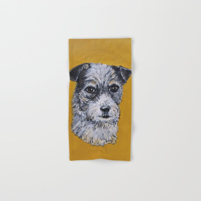 Terrier Mix Dog Portrait Hand & Bath Towel