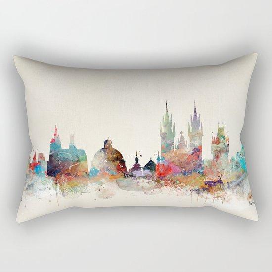 Barcelona city skyline Rectangular Pillow