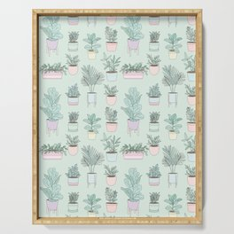 House Plants Guide / Green Pattern Serving Tray