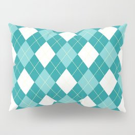 Argyle Blue Pillow Sham