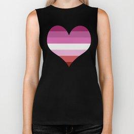 Lesbian Heart Biker Tank
