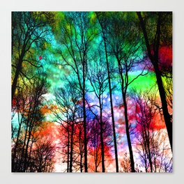 colorful abstract forest Canvas Print
