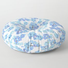 Forget me not I Floor Pillow