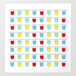 Colorful Sky Gliders Art Print