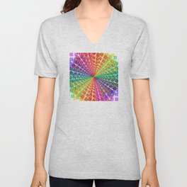 Colorful mosaic pattern design artwork- colorful christmas gifts- pixel art Unisex V-Neck