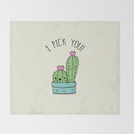 I PICK YOU! Throw Blanket
