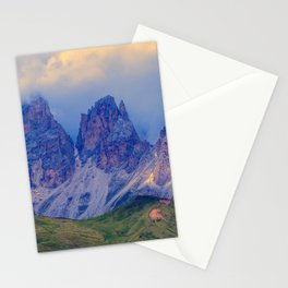 rocky mountain and cloudy sky Stationery Cards