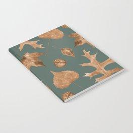 Autumn Elements Pattern (Copper&Sage) Notebook