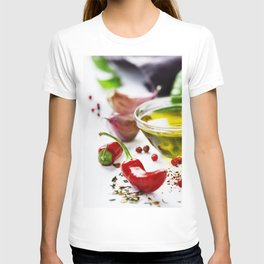 Red Chili Peppers with herbs and spices T-shirt