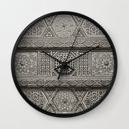 Islamic Design Roof Damascus Carving Wall Clock