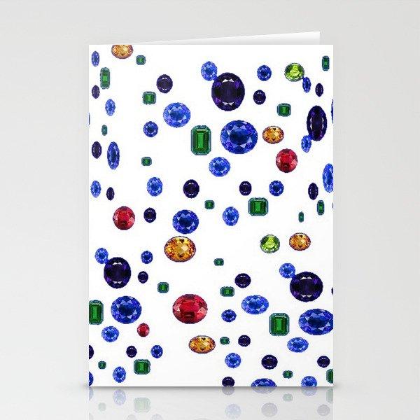 ASSORTED GEMS RAINING Stationery Cards