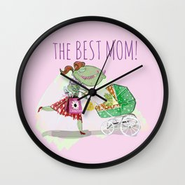 The Best Mom in Pink Wall Clock