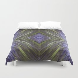Claret and Moss Waves Duvet Cover