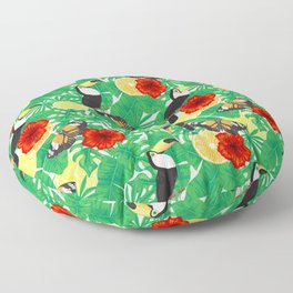 Tropical garden Floor Pillow