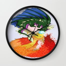 The Dragon And The Phoenix Wall Clock
