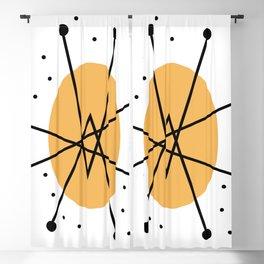 Retro Atomic Age Nuclear Motif — Mid Century Modern Blackout Curtain