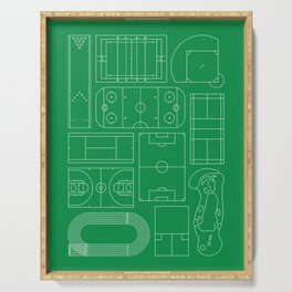 Sport Courts Pattern Art Serving Tray