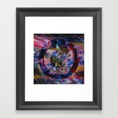 Space Marble Version 2 Framed Art Print