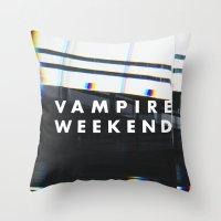 vampire weekend Throw Pillows featuring Vampire Weekend 3 by alboradas