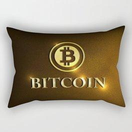 Bitcoin Cryptocurrecny Coin Rectangular Pillow