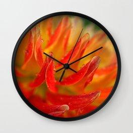 Dahlias fire Wall Clock