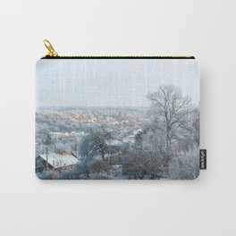 Winter landscape of village Carry-All Pouch