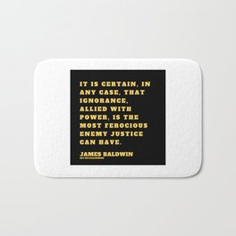22  |James Baldwin Quotes 200808 Print Poster Black Writers Motivational Quotes For Life Poem Poetry Bath Mat