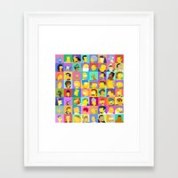 simpsons Framed Art Prints featuring Simpsons by thev clothing