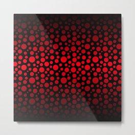 Red and Black Gradient Circles Metal Print