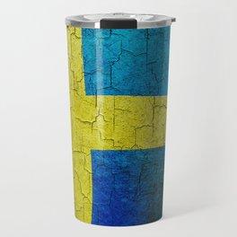 Grunge Sweden flag Travel Mug