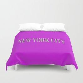 New York City (white type on pink) Duvet Cover