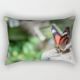 Red Lacewing Butterfly Rectangular Pillow