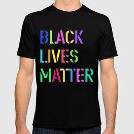 Black Lives Matter Colorful Stencil 1 T-shirt