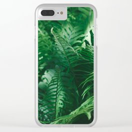 Macro photography of a fern in a tropical forest. Nature background. Clear iPhone Case
