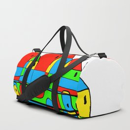 Colored Little Village for Kids Duffle Bag