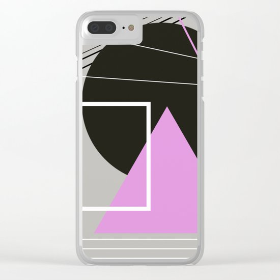 Geometric Landscape Clear iPhone Case