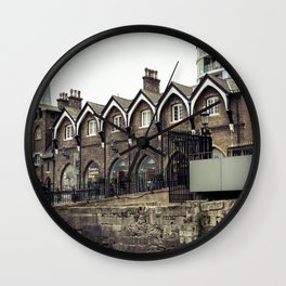 Shard in Background of Tower of London Gift Shop Historic Building England Wall Clock