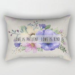 Love is Patient. Love is Kind. Rectangular Pillow