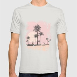 Tropical Sunset In Peach Coral Pastel Colors T-shirt