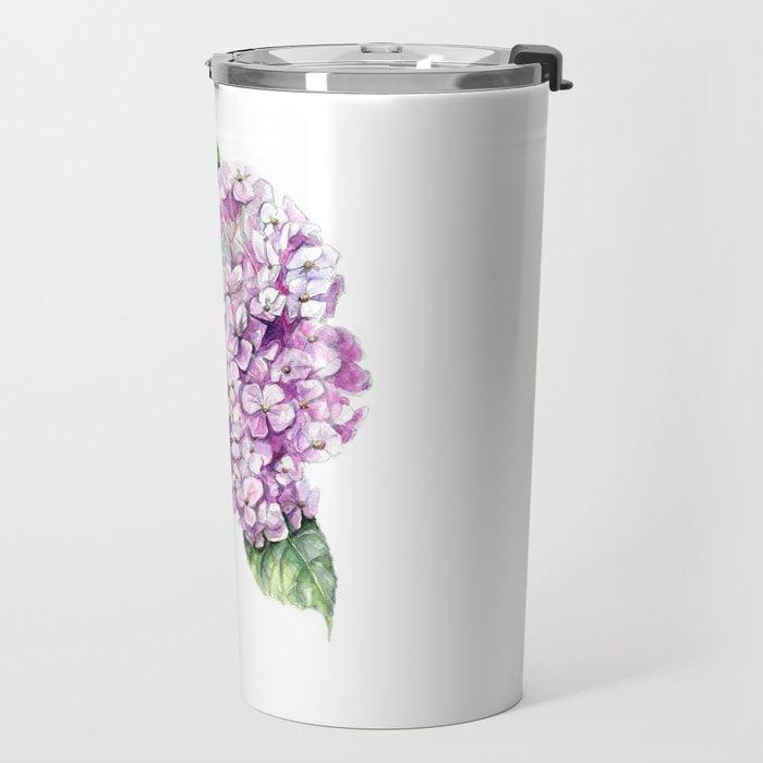 Hydrangea Travel Mug
