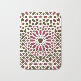 -A1- Red Traditional Moroccan Zellij Artwork. Bath Mat